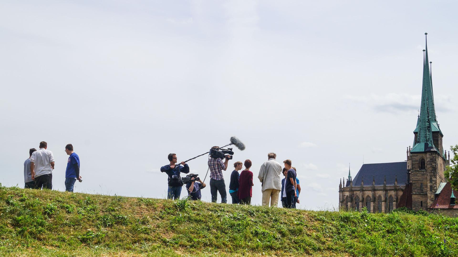 Foto von den Dreharbeiten