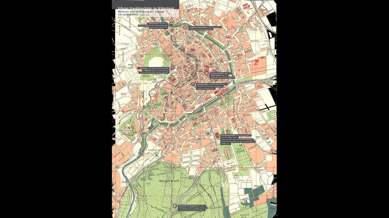 Plan von Erfurt
