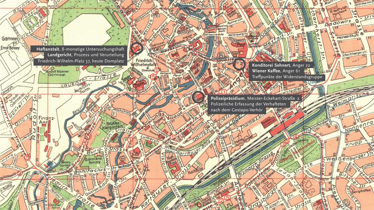 Haftanstalt, Landesgericht, Konditorei Sehnert, Wiener Kaffee, Polizeipräsidium