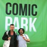 Jochen Voit und Hamed Eshrat bei der ersten Lesung im Comicpark.